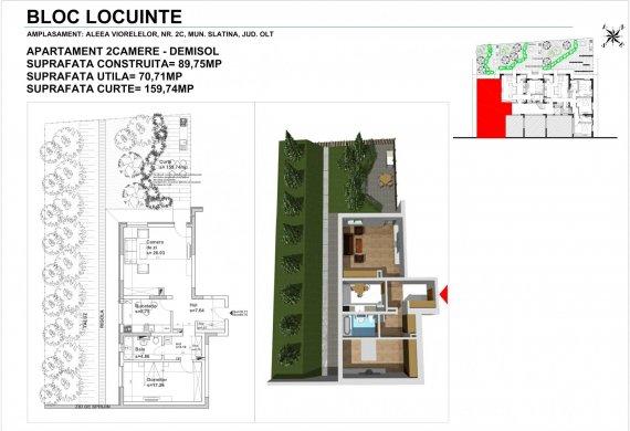 Apartament 2 Camere - 2CTIP4