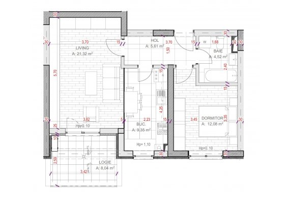 Apartament Studio - C2.5.2