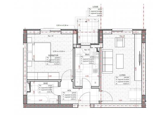 Apartament 2 Camere - C2.3C.1
