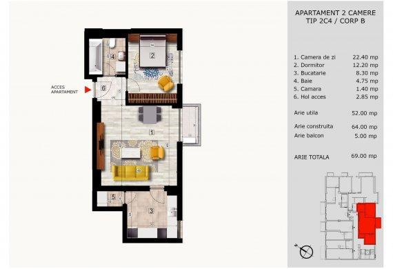 Apartament 2 Camere - 2C4