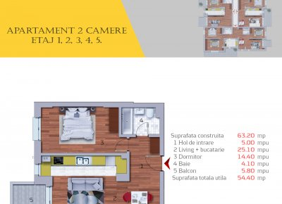 Apartament 2 Camere - 2C