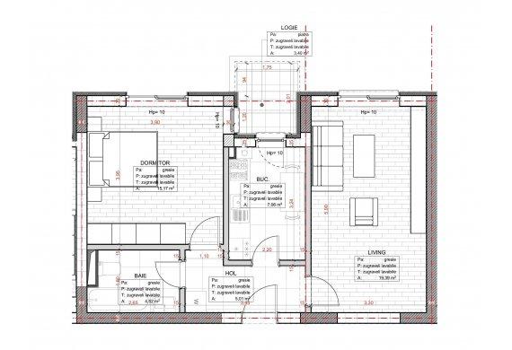 Apartament 2 Camere - C2.3C