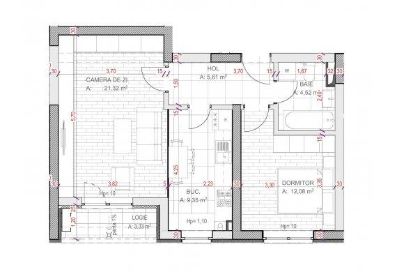 Apartament Studio - C2.5.1