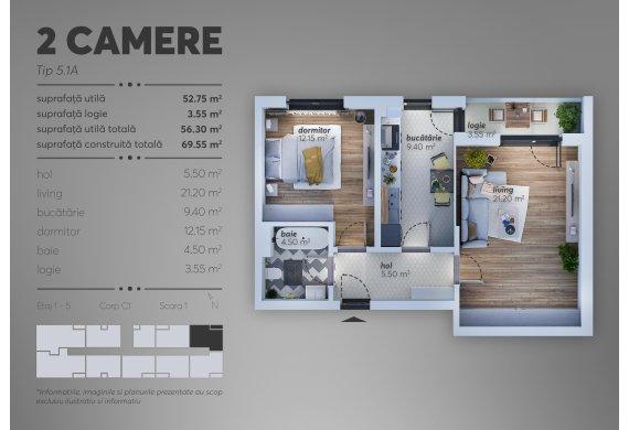 Apartament 2 Camere - C1.5.1A