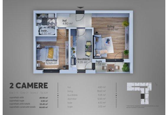 Apartament 2 Camere - C1.3.2A
