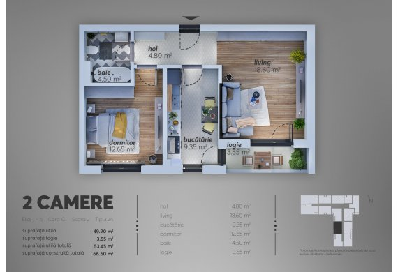 2 Camere Apartment - C1.3.2A