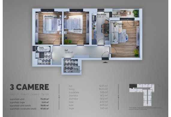 3 Camere Apartment - C1.1.2A