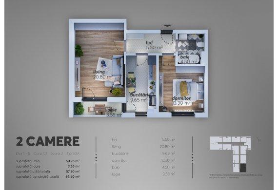 Apartament 2 Camere - C1.5.2A