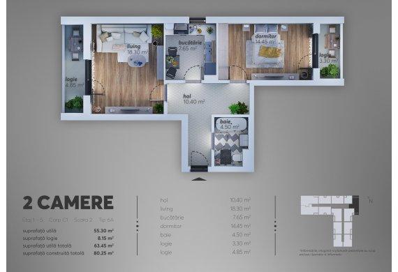 Apartament 2 Camere - C1.6A