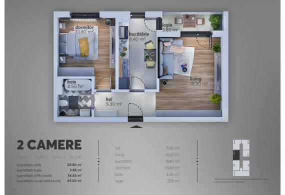 2 Camere Apartment - C1.3.3B