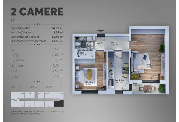 Apartament 2 Camere - C1.5.1B