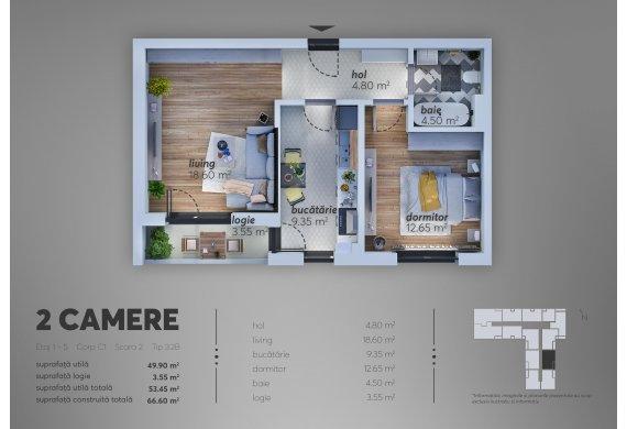 2 Camere Apartment - C1.3.2B