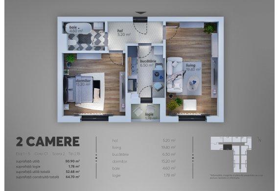 Apartament Studio - 2.1B