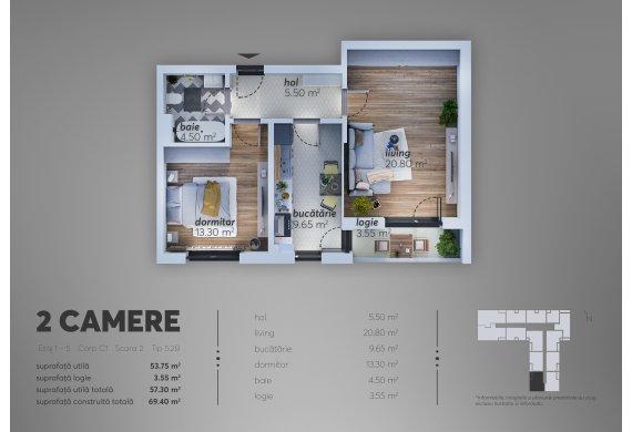 Apartament 2 Camere - C1.5.2B
