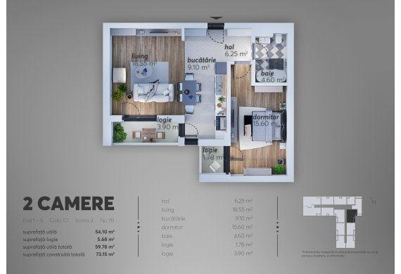 Apartament 2 Camere - C1.7B