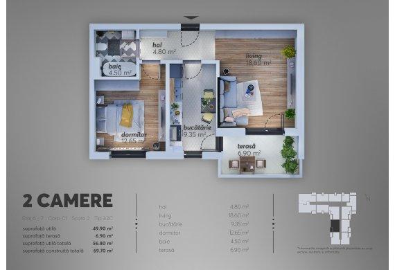 2 Camere Apartment - C1.3.2C