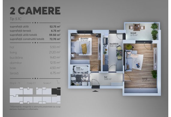 Apartament 2 Camere - C1.5.1C