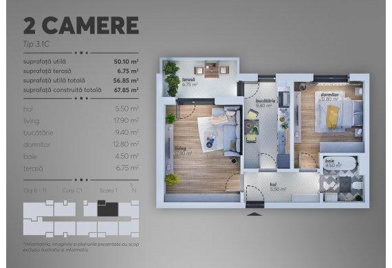 2 Camere Apartment - C1.3.1C