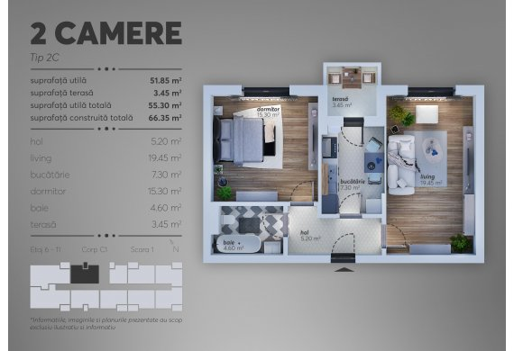 Apartament Studio - 2C