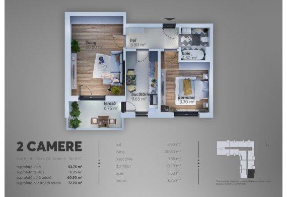 Apartament 2 Camere - C1.5.2C