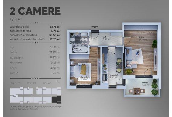 Apartament 2 Camere - C1.5.1D