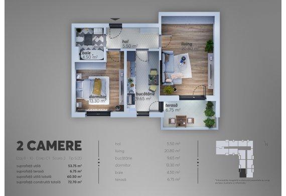 Apartament 2 Camere - C1.5.2D