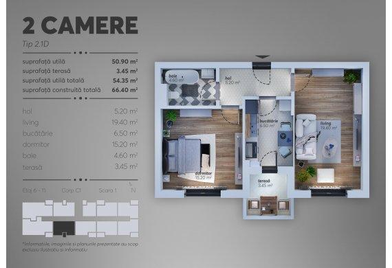 Apartament Studio - 2.1D