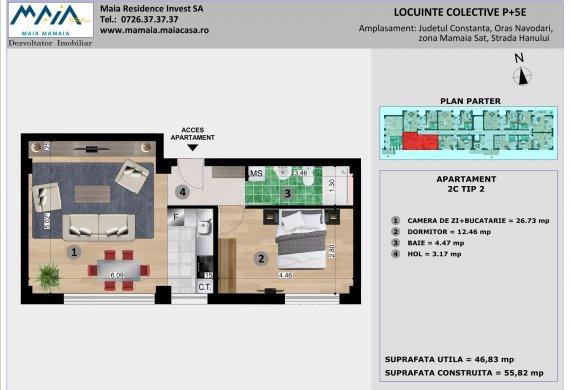 Apartament 2 Camere - 2C TIP 2