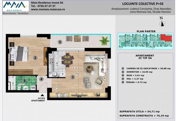 Apartament 2 Camere - 2C TIP 5A