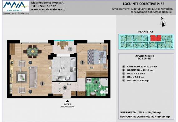 Apartament 2 Camere - 2C TIP 4E