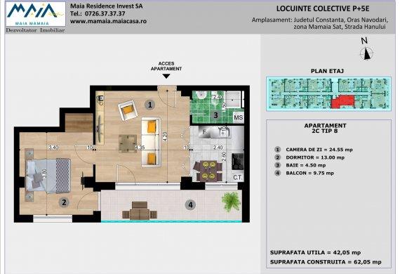 Apartament 2 Camere - 2C TIP 8