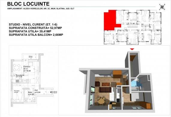 Apartament 2 Camere - 2CTIP5