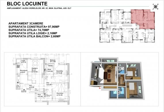 Apartament 3 Camere - 3CTIP2