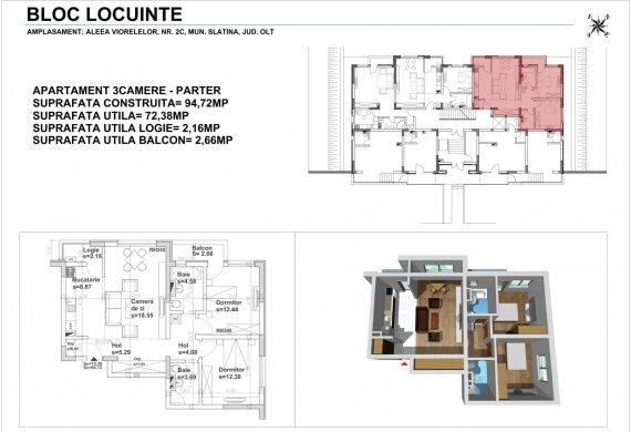 Apartament 3 Camere - 3CTIP1