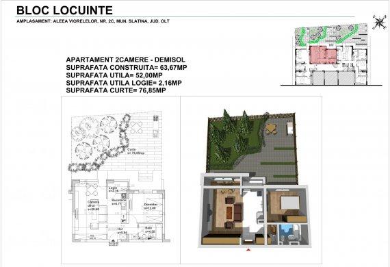 Apartament 2 Camere - 2CTIP1C