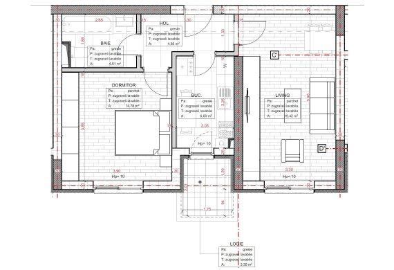 Apartament 2 Camere - C2.3D.2