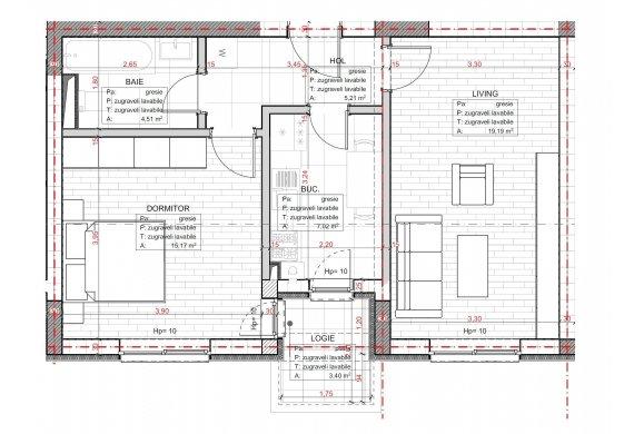 Apartament 2 Camere - C2.3D