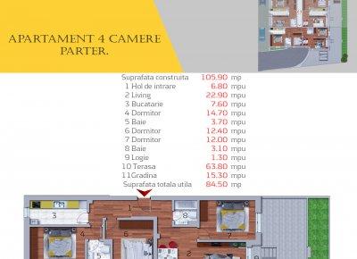 Apartament 4 Camere - 4D
