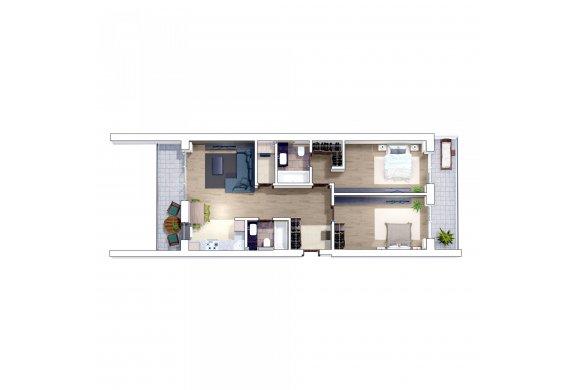 Apartament 3 Camere - 3D