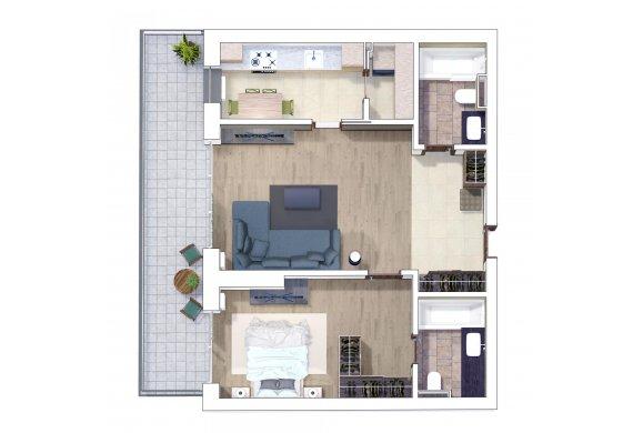 Apartament 2 Camere - 2D