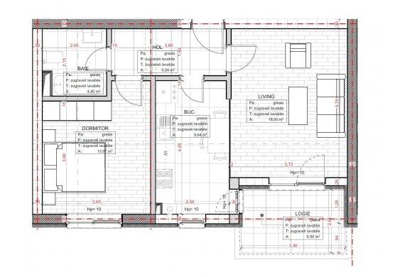 Apartament 2 Camere - C2.3.4D