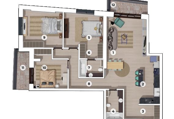 Apartament 4 Camere - 4A2