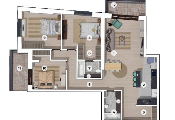Apartament 4 Camere - 4A1