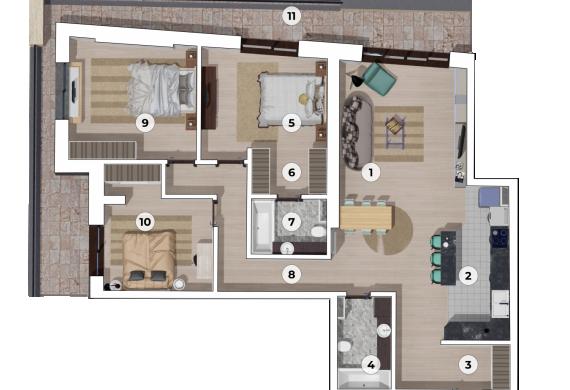 Apartament 4 Camere - 4A