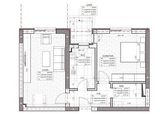 Apartament 2 Camere - C2.3D.1