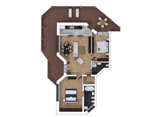Apartament 3 Camere - Deluxe Garden - Parter