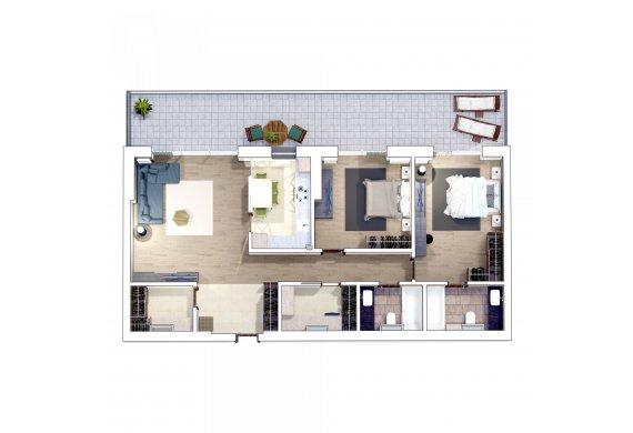 Apartament 3 Camere - 3M