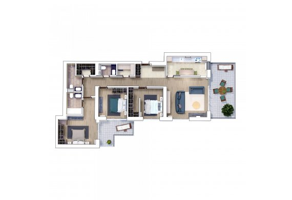 Apartament 4 Camere - 4I