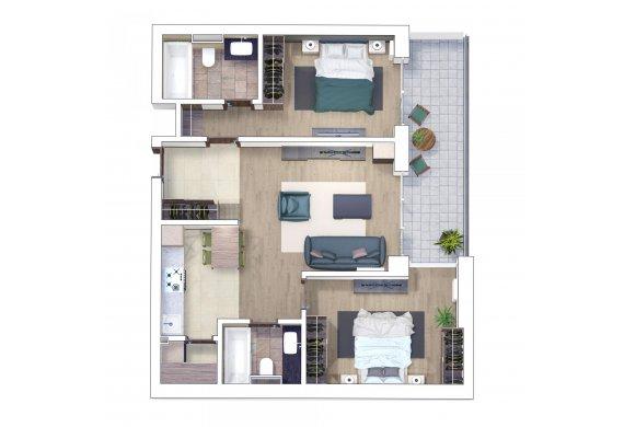 Apartament 3 Camere - 3E
