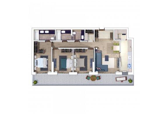 Apartament 4 Camere - 4F